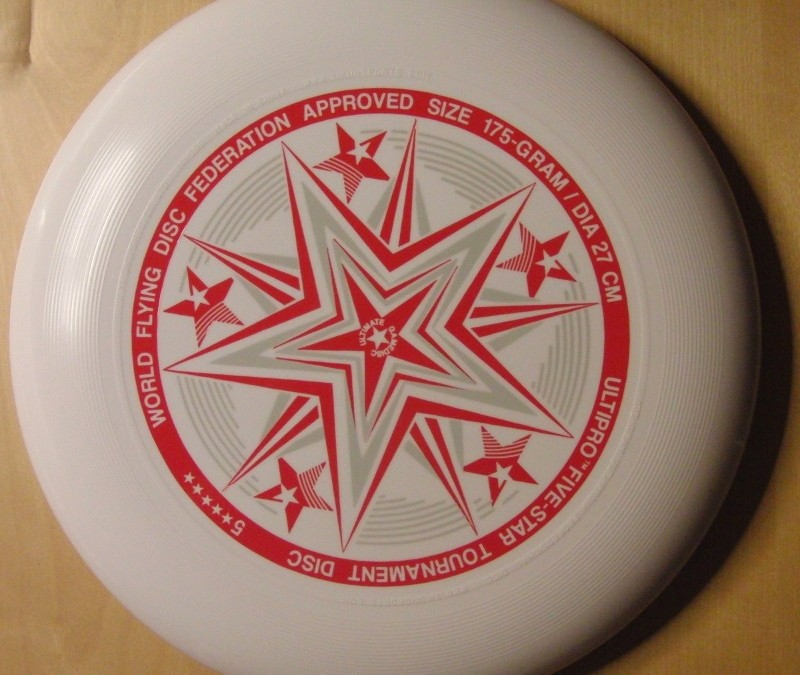 Ultipro Five star – white standard flying disc form yikun sports
