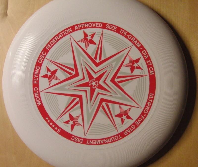 Ultipro Five star – white standard flying disc form yikun sports
