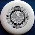 Mayan Design ultimate frisbee disc