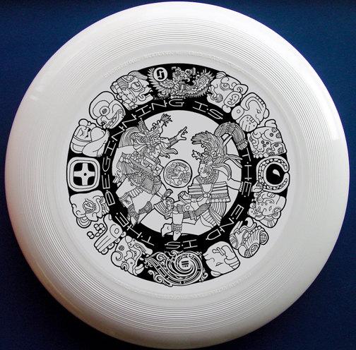 Mayan Design ultimate frisbee disc