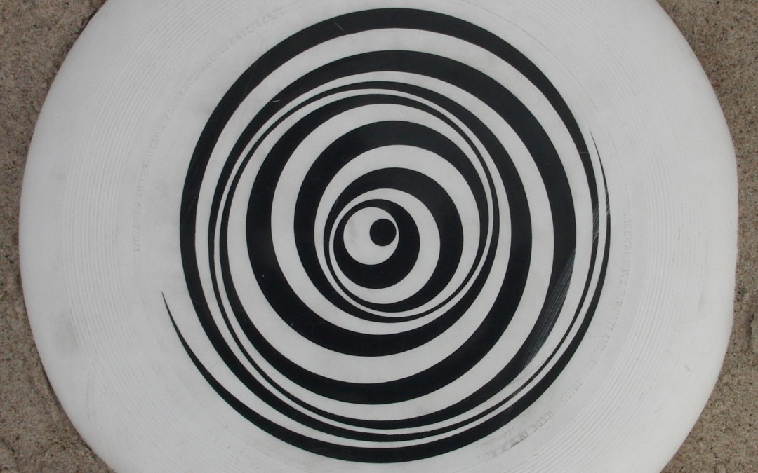 rotating white disc