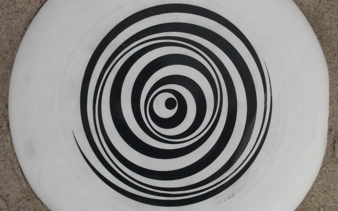rotating white disc