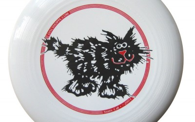 Static cat ultimate discraft – original artwork from Joan Delehanty